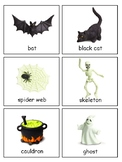 Halloween 3-part cards for Safari Glow-in-the-Dark Hallowe