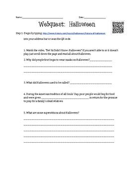 Halloween 30 Minute WebQuest