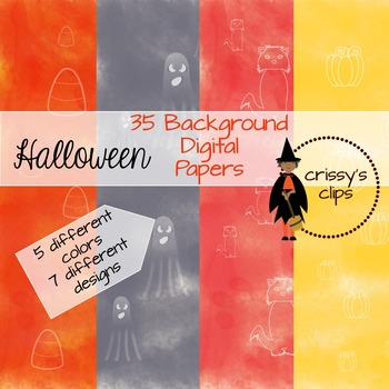Halloween Background Papers