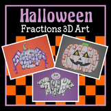 Halloween 3D Fractions Art