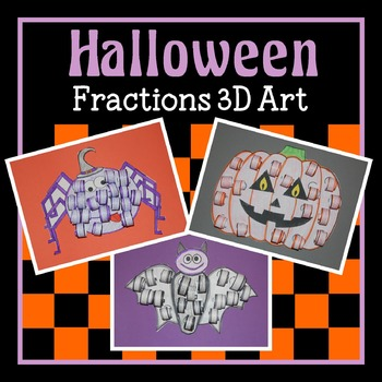 Halloween 3D Fractions Art