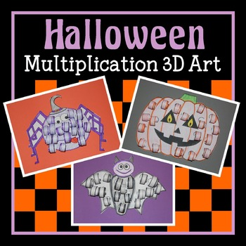 Halloween 3D Multiplication Art