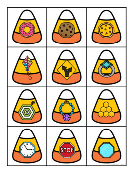 Halloween 2D and 3D Shape Sorting