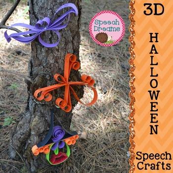 Halloween 3D Speech Therapy Crafts {articulation language craftivities}
