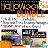 Halloween 3rd Grade BUNDLE ~ Halloween Literacy ~ Halloween Reading Passages