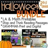Halloween 3rd Grade BUNDLE ~ Halloween Literacy ~ Halloween Reading Passages