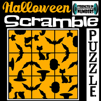 Halloween 3x3 SCRAMBLE Puzzle for Early Finishers