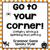 Halloween 4 Corners Category Grammar Game