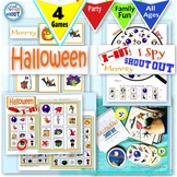 Halloween 4 Game Bundle: Shout Out, X-out, I Spy, Memory;