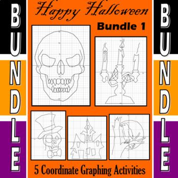 Halloween - Bundle #1 - 5 Coordinate Graphing Activities