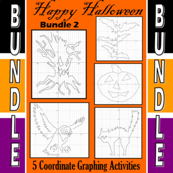 Halloween - Bundle #2 - 5 Coordinate Graphing Activities