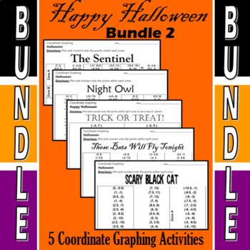 Halloween - Bundle #2 - 5 Coordinate Graphing Activities
