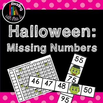 Halloween 5 Literacy and Math centers bundle