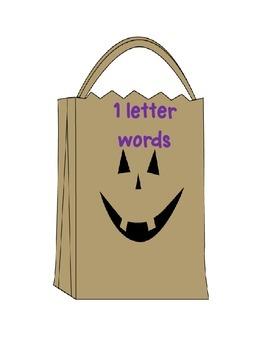Halloween 5 Pack Kindergarten Literacy Stations Fill the Bag CC Aligned