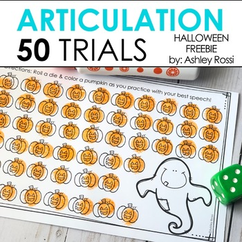 Halloween 50 Articulation Trials in Speech Therapy