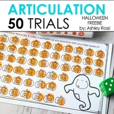 Halloween 50 Articulation Trials in Speech Therapy