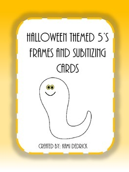 Halloween 5's Frames and Subitizing Cards