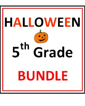 Halloween 5th Grade Bundle