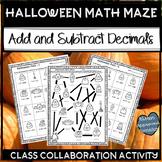 Halloween Math 5th Grade Add and Subtract Decimals Math Maze
