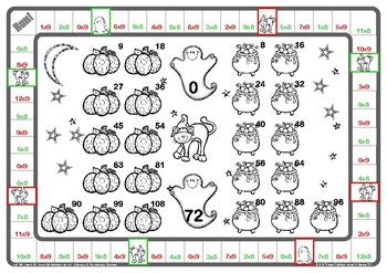 Halloween 8 and 9 Times Tables Games