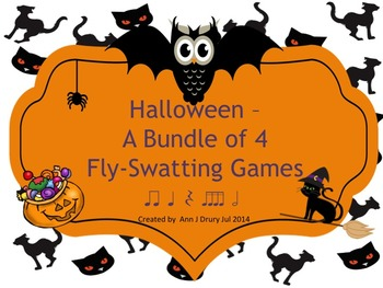 Halloween - A Bundle of Fly Swatting Games to Practice Rhythm Reading