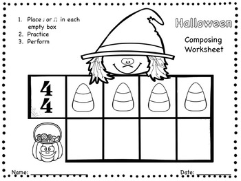 Halloween - A Composing Activity to Practice Quarter and Eighth Notes