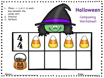 Halloween - A Composing Activity to Practice Ti-Ti-ka and Ti-ka-Ti