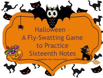 Halloween - A Fly Swatting Game to Practice Sixteenth Notes