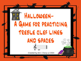 Halloween - A Game for Identifying Treble Clef Notation