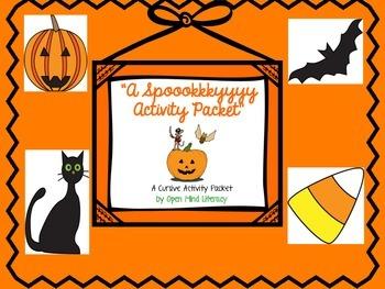 Halloween:  A Spooky Cursive Activity Pack!
