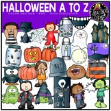 Halloween A To Z Clip Art Set {Educlips Clipart}