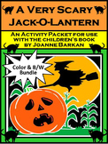 Halloween Activities: A Very Scary Jack-o-lantern Activity Bundle - Color & B/W
