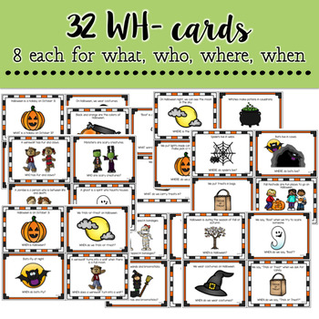 Halloween: A WH- Questions Game