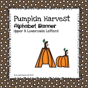 Pumpkin Harvest Alphabet Banner