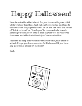Halloween AAC Trick or Treat Visual and Letter