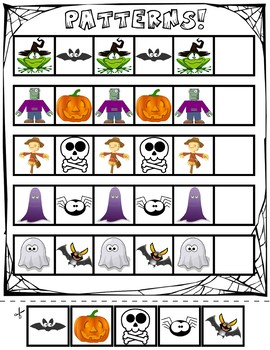 Halloween ABA Pattern Cards | Three Pack