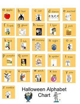 Halloween ABC Chart