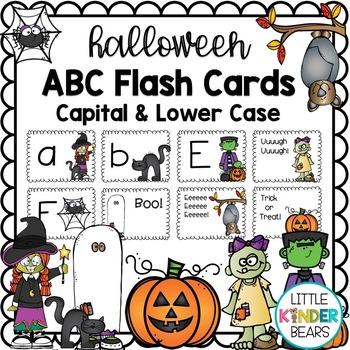 Halloween ABC Flash Cards