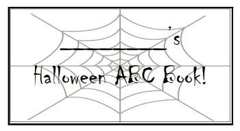Halloween ABC Flipbook