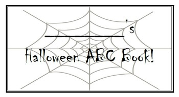 Halloween ABC Flipbook