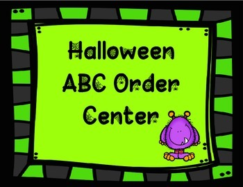 Halloween ABC Order Center