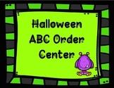 Halloween ABC Order Center