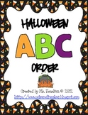 Halloween ABC Order Center Activity