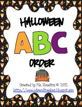 Halloween ABC Order Center Activity