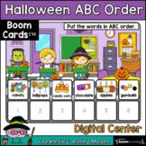 Halloween ABC Order Center - Boom Cards - Digital Distance