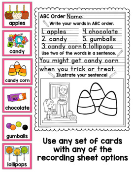 Halloween ABC Order Center/Station with differentiation options