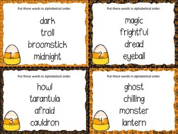 Halloween ABC Order (FREEBIE)