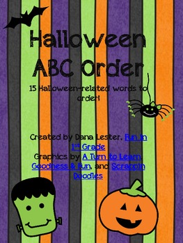 Halloween ABC Order {FREEBIE}