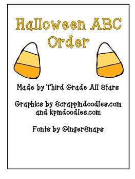 Halloween ABC Order Game