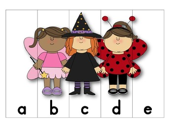 Halloween ABC Order Puzzles (lowercase)